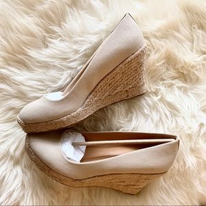 New J. crew Wedge Heels
